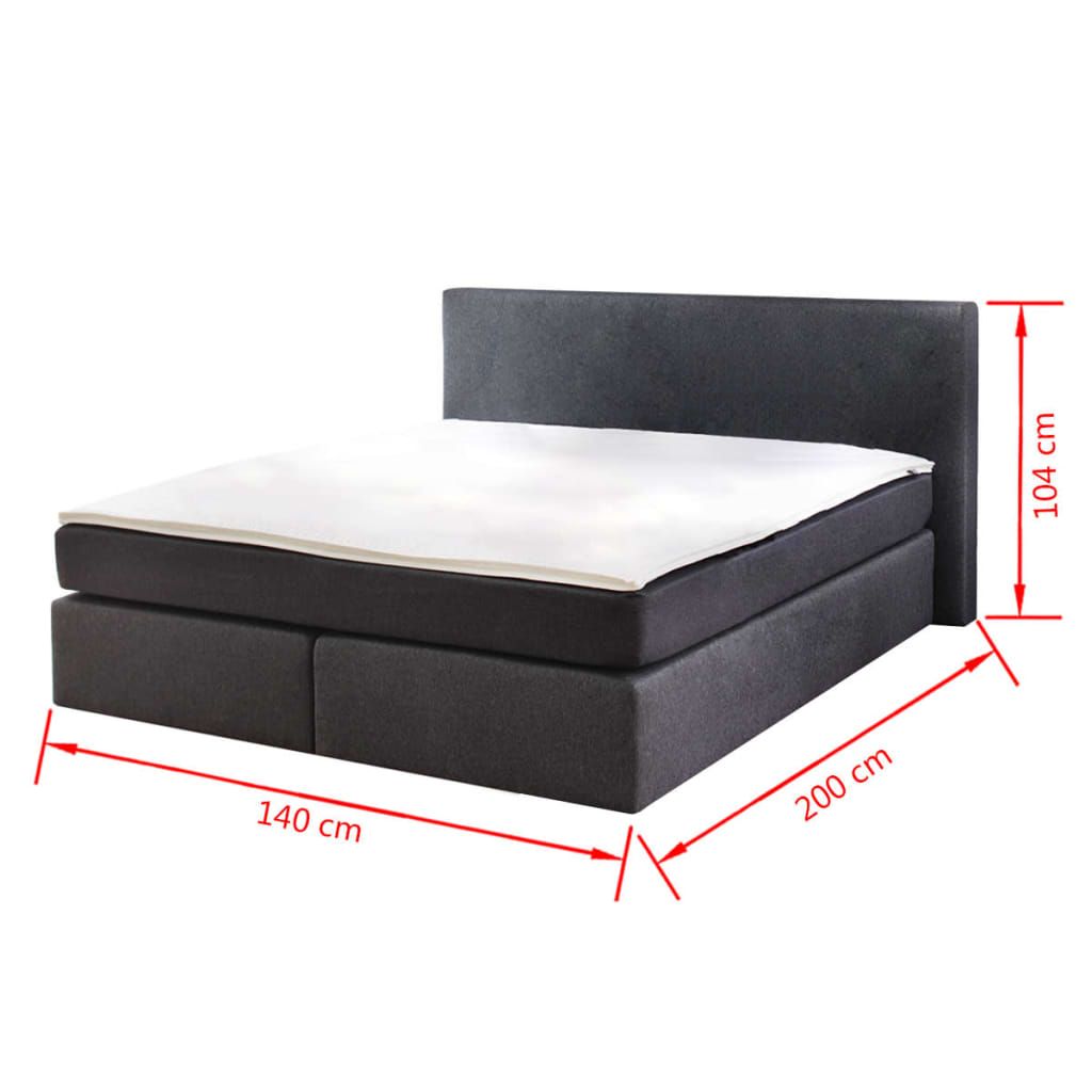 acheter lit adulte avec matelas ressort 200 x 140cm pas. Black Bedroom Furniture Sets. Home Design Ideas