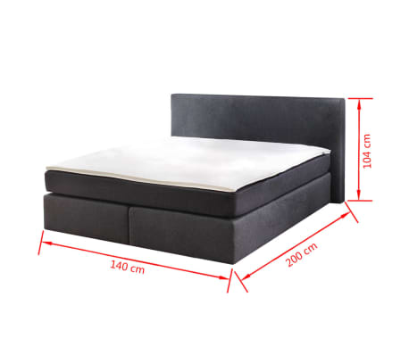 lit adulte avec matelas ressort 200 x 140cm. Black Bedroom Furniture Sets. Home Design Ideas