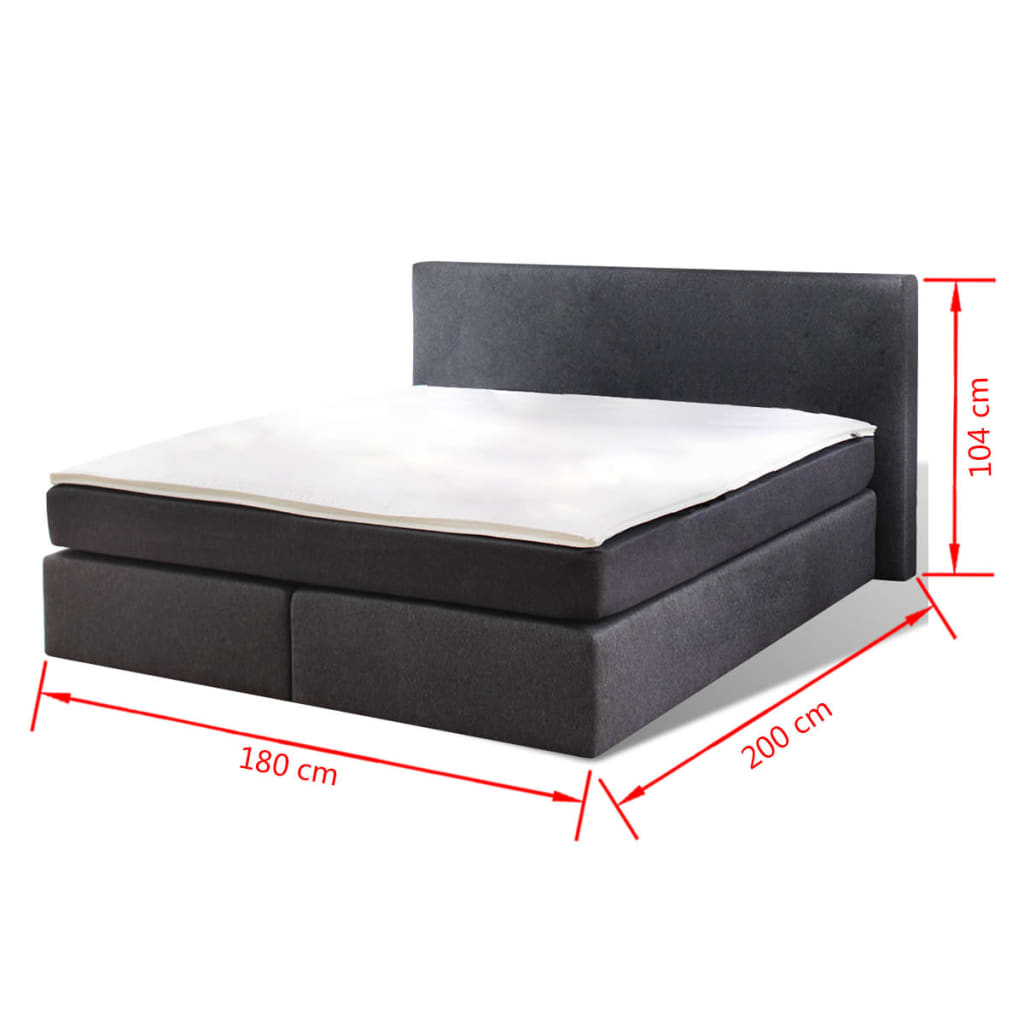 der boxspringbett mit matratze 200 x 180 cm online shop. Black Bedroom Furniture Sets. Home Design Ideas
