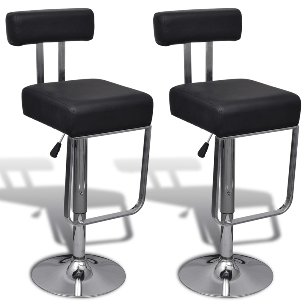 Acheter 2 tabourets de bar noirs pivotant et ajustables - Amazon table de bar ...