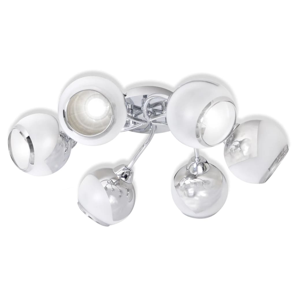 Ceiling Lights With G9 Bulbs : Ceiling lamp with glass shades for g bulbs vidaxl