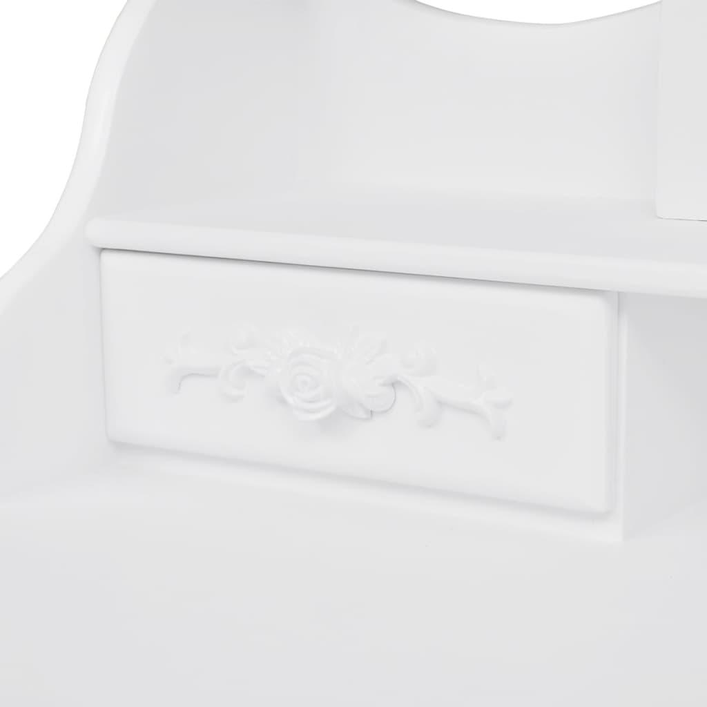 Der schminktisch frisierkommode mit hocker und 3 spiegeln online shop for Schminktisch mit 3 spiegeln