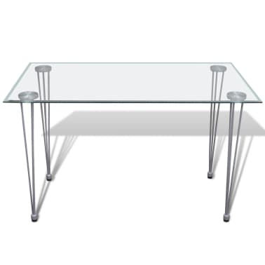 Articoli per tavolo da pranzo con piano superiore in vetro for Tavolo trasparente