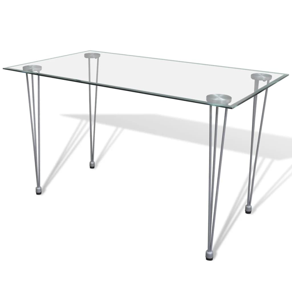 acheter table transparente avec plateau en verre pas cher. Black Bedroom Furniture Sets. Home Design Ideas