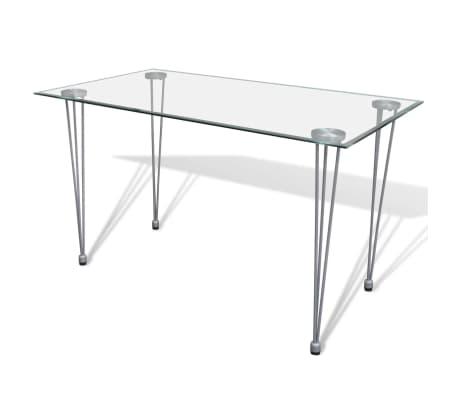 Articoli per tavolo da pranzo con piano superiore in vetro for Tavolo pranzo trasparente