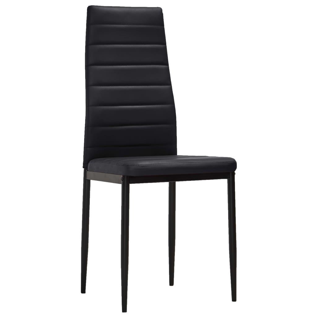 acheter 2 pcs chaise salle manger noir ligne slim pas cher. Black Bedroom Furniture Sets. Home Design Ideas
