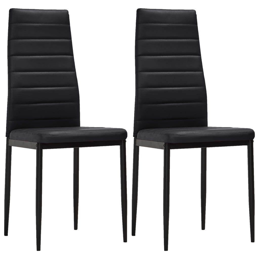 La boutique en ligne 2 pcs chaise salle manger noir for Chaise salle a manger noir
