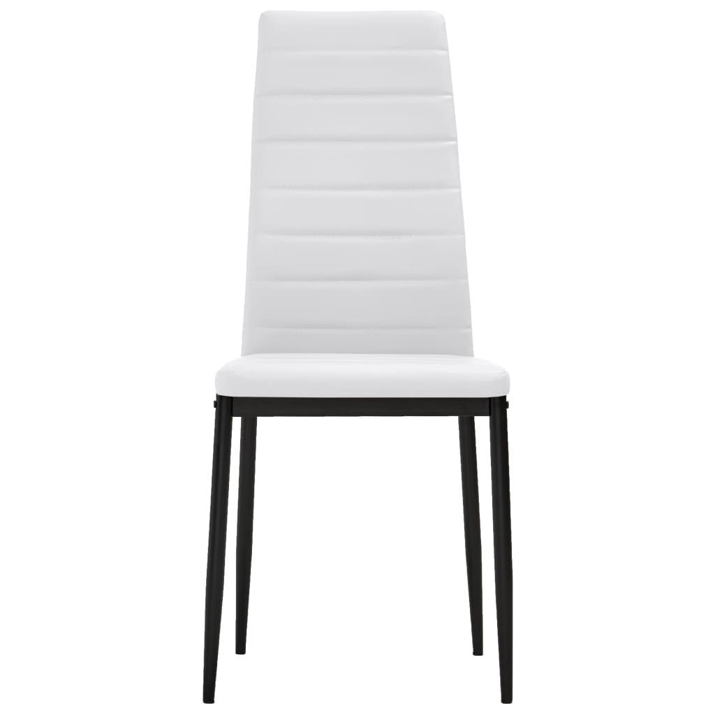 Vidaxl 4x sedie da pranzo in similpelle bianche linea for Sedie bianche da cucina