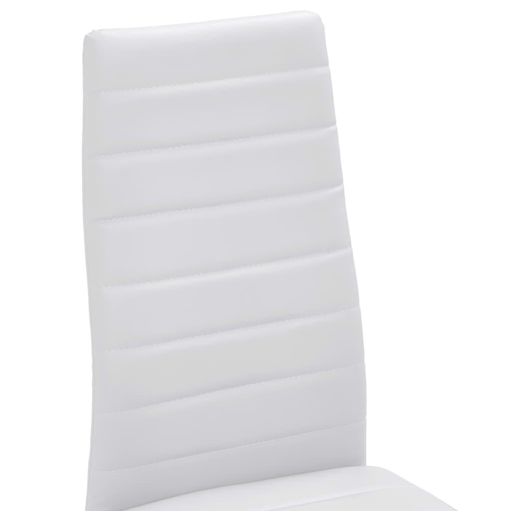 Vidaxl 4x sillas de sal n comedor modernas slim line cuero for Sillas comedor blancas modernas