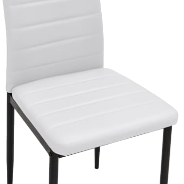 vidaXL Chaise de salle à manger 4 pcs Design fin Blanc [7/8]