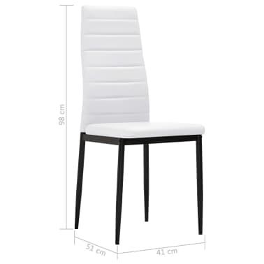 vidaXL Chaise de salle à manger 4 pcs Design fin Blanc [8/8]