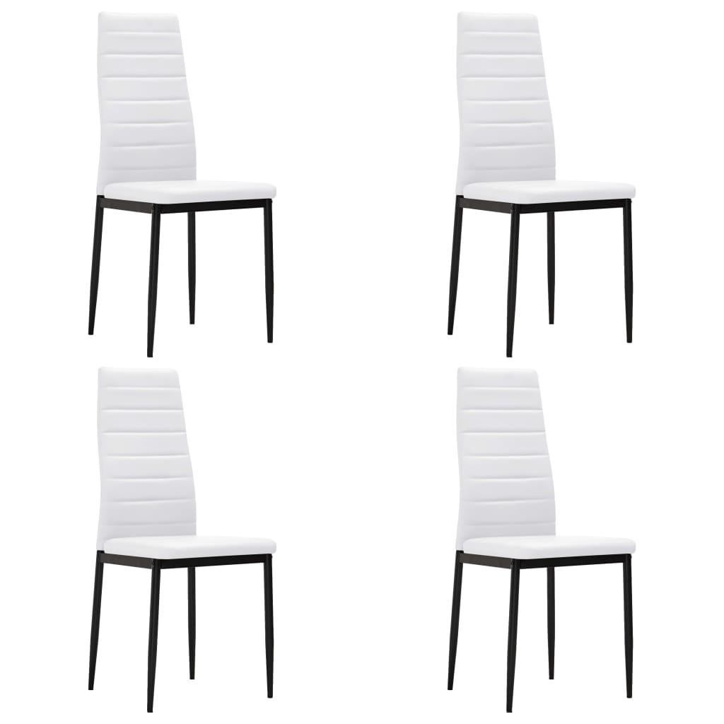 Acheter 4 pcs chaise salle manger blanc ligne slim pas for Salle a manger solde