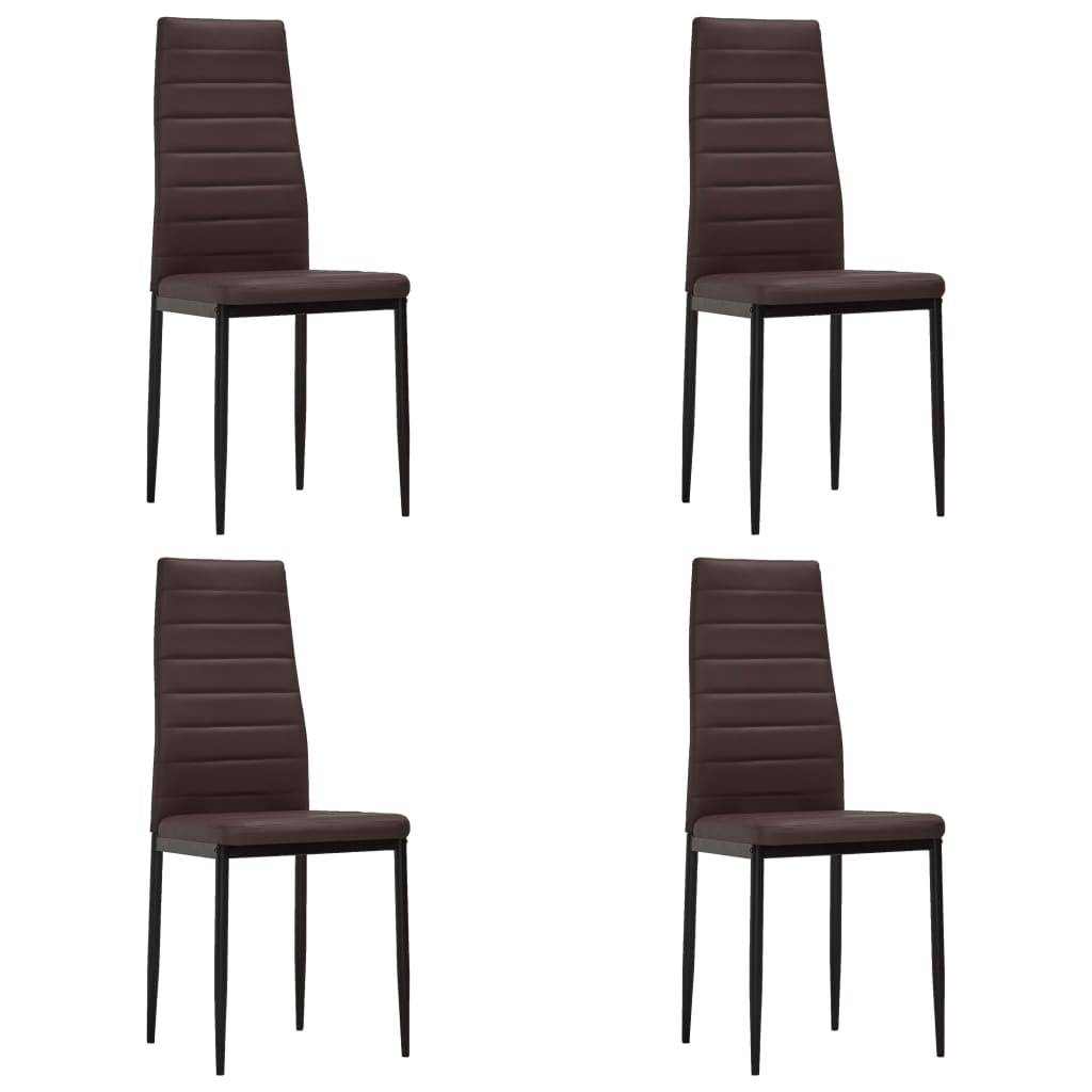 der esszimmerstuhl schlankes design braun 4 st ck online shop. Black Bedroom Furniture Sets. Home Design Ideas