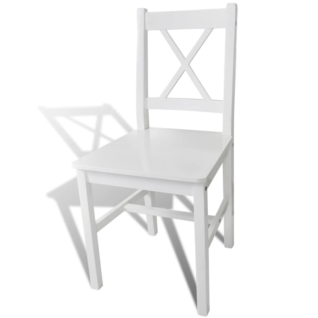 Acheter 2 pcs chaise salle manger en bois blanc pas cher for Acheter chaise salle manger pas cher