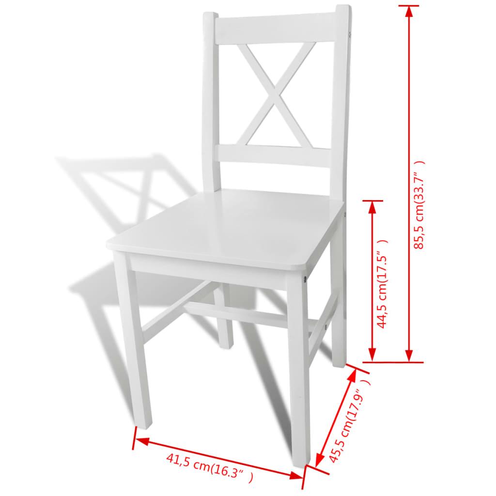 Acheter 2 pcs chaise salle manger en bois blanc pas cher for Salle a manger en solde