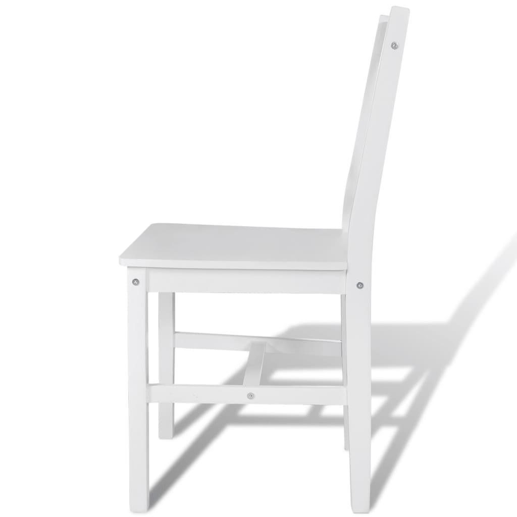 Silla de comedor de madera de pino blanco 4 unidades for Comedor de madera 4 sillas
