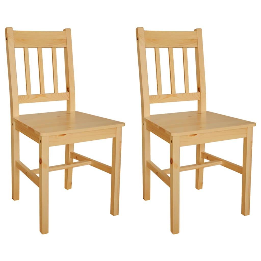 Acheter 2 pcs chaise salle manger en bois naturel pas for Salle a manger solde