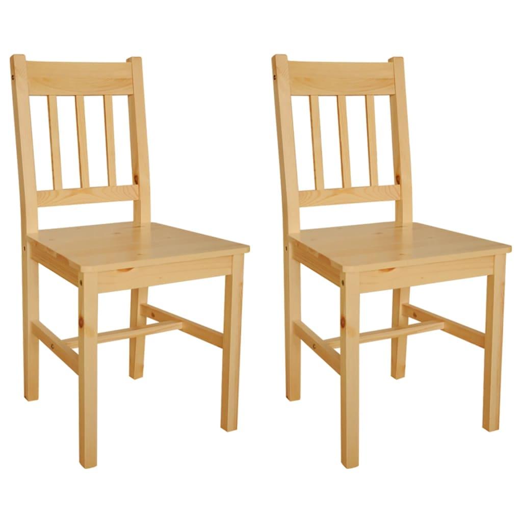 Acheter 2 pcs chaise salle manger en bois naturel pas for Chaise bois solde