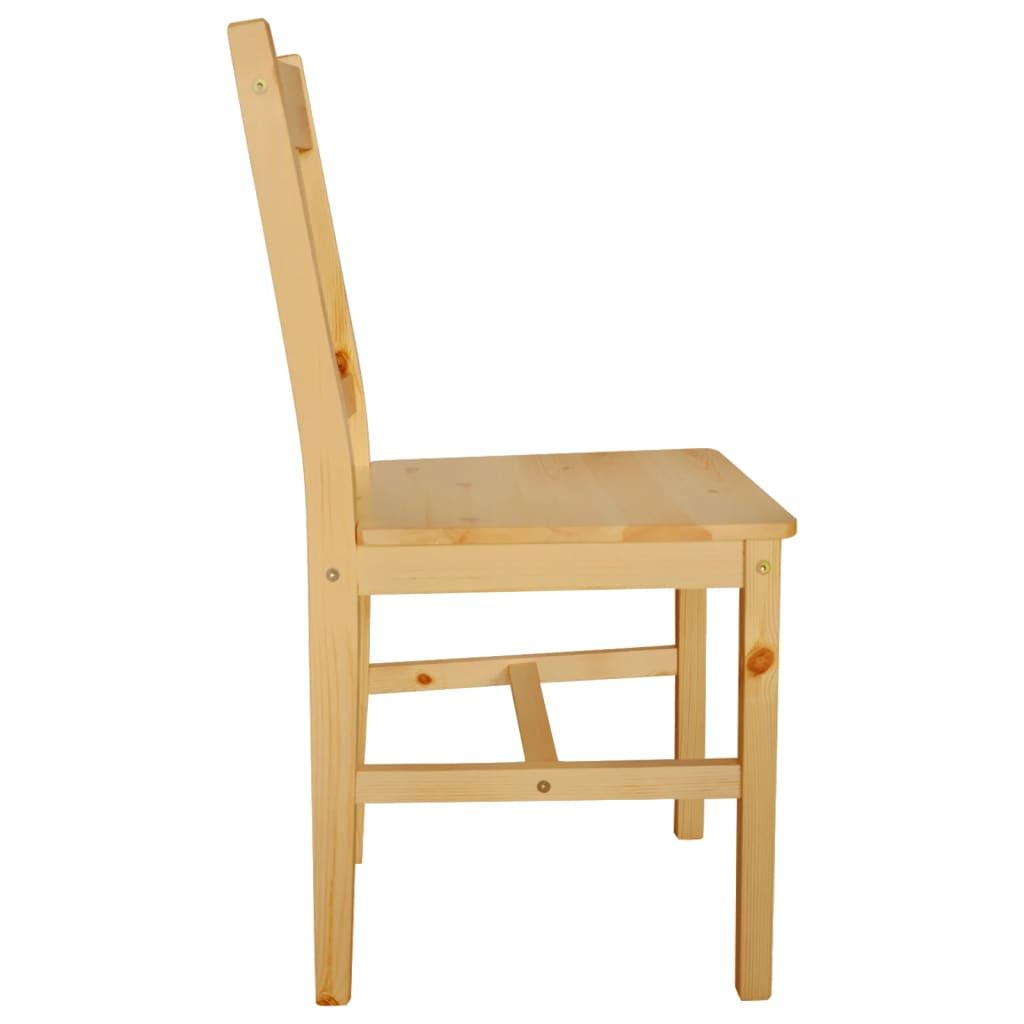 Silla de comedor de madera de pino 4 unidades color for Sillas madera colores