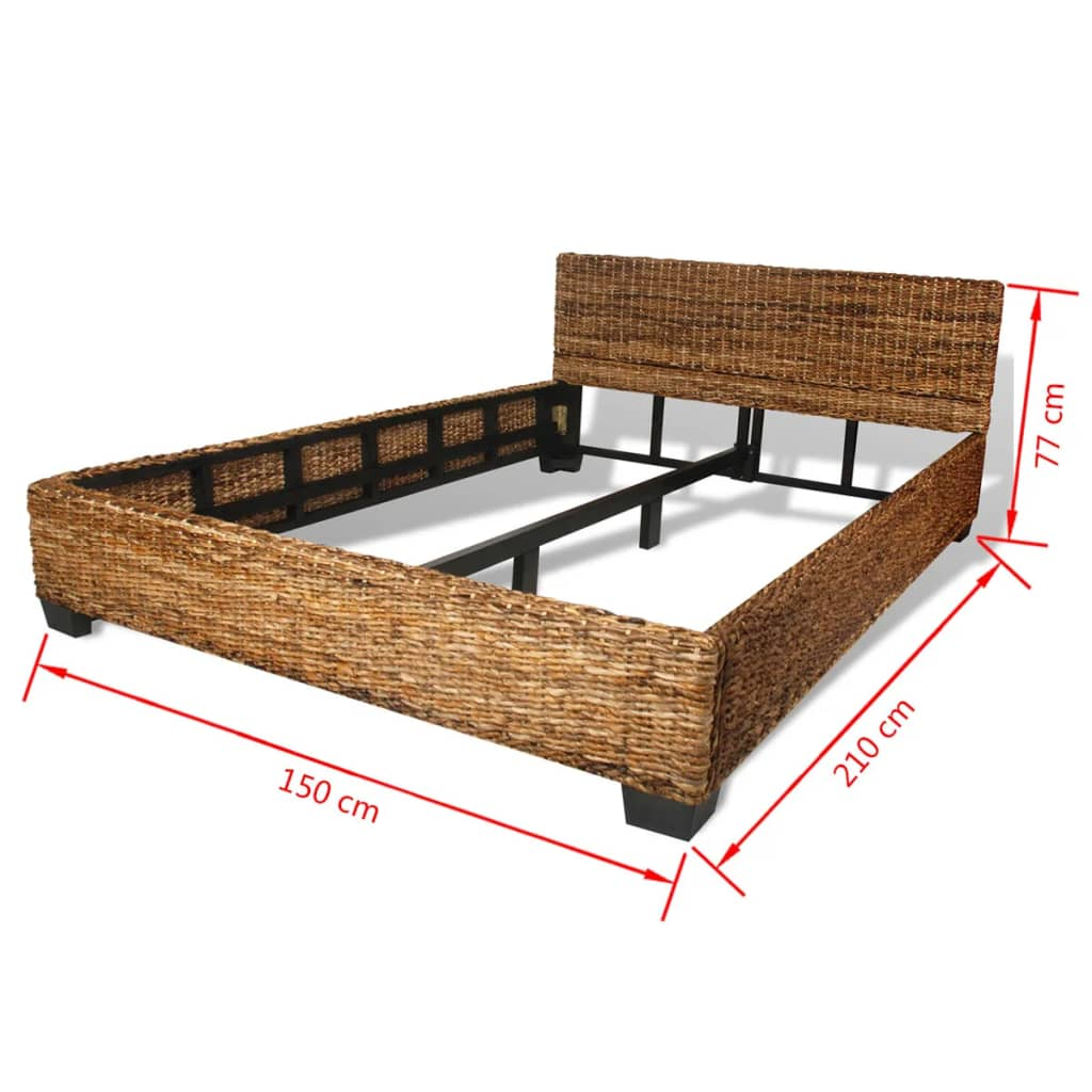bett handgewebt abaca rattan 140 x 200 cm g nstig kaufen. Black Bedroom Furniture Sets. Home Design Ideas