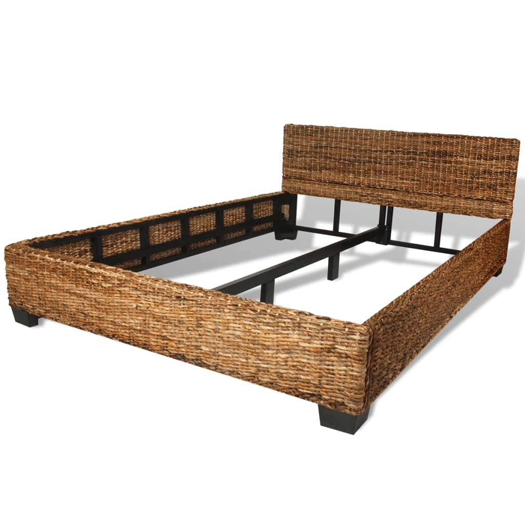 handgeweven abaca rattan bed 140 x 200 cm. Black Bedroom Furniture Sets. Home Design Ideas