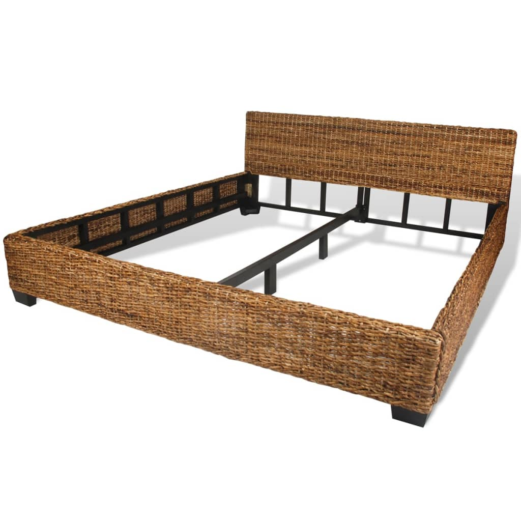vidaxl bed only frame 180x200 cm 6ft super king handwoven abaca rattan. Black Bedroom Furniture Sets. Home Design Ideas