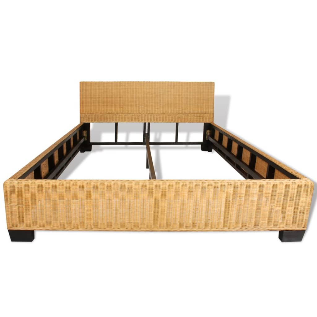 der bett handgewebtes rattan 140 x 200 cm online shop. Black Bedroom Furniture Sets. Home Design Ideas