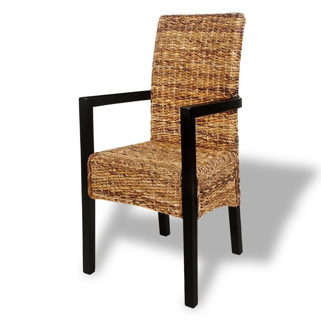 Handwoven Abaca Dining Chairs with Armrests 2 pcs vidaXLcom : image from www.vidaxl.com size 1024 x 1024 jpeg 106kB
