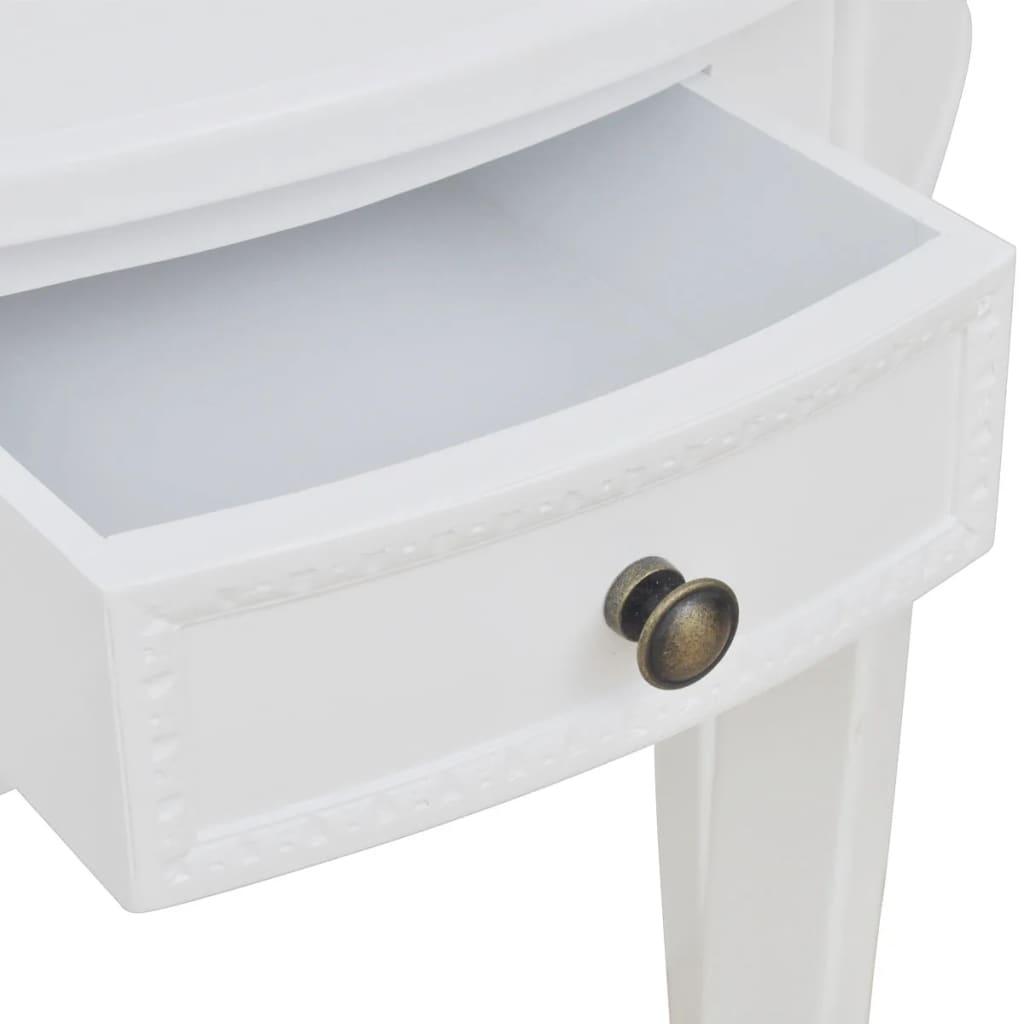 la boutique en ligne console demi ronde blanche avec tiroir. Black Bedroom Furniture Sets. Home Design Ideas