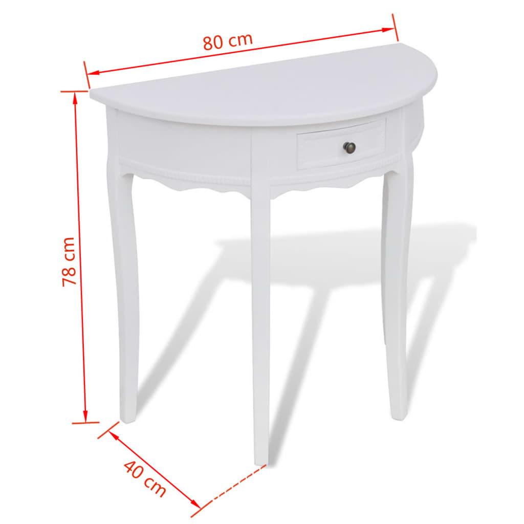 acheter console demi ronde blanche avec tiroir pas cher. Black Bedroom Furniture Sets. Home Design Ideas