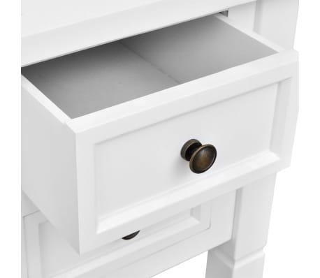 wei er schreibtisch mit 5 schubladen im vidaxl trendshop. Black Bedroom Furniture Sets. Home Design Ideas