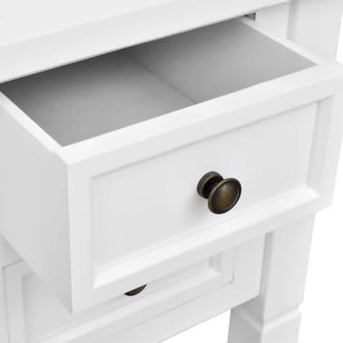 wei er schreibtisch mit 5 schubf chern g nstig kaufen. Black Bedroom Furniture Sets. Home Design Ideas