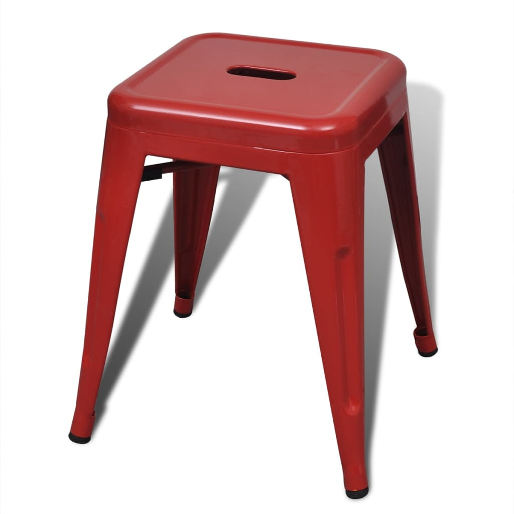 ... 2 pcs Red Stackable Small Metal Stool[4/5] ...  sc 1 st  vidaXL.com & 2 pcs Red Stackable Small Metal Stool | vidaXL.com islam-shia.org