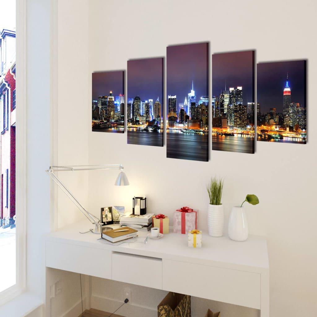bilder dekoration set new york in farbe 200 x 100 cm