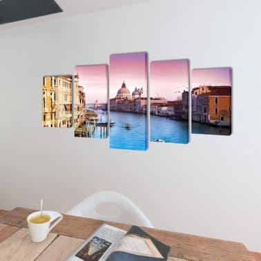 Zestaw obrazów Canvas 200 x 100 cm Wenecja[2/3]