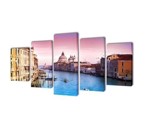 Zestaw obrazów Canvas 200 x 100 cm Wenecja