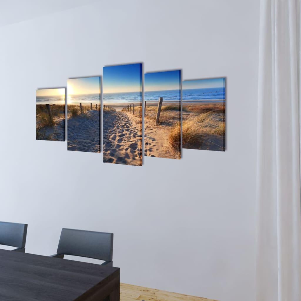 Bilder Dekoration Set Strand 100 X 50 Cm G Nstig Kaufen