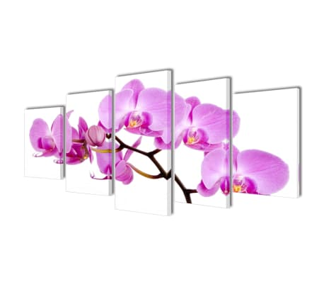 "Canvas Wall Print Set Orchid 79"" x 39"""