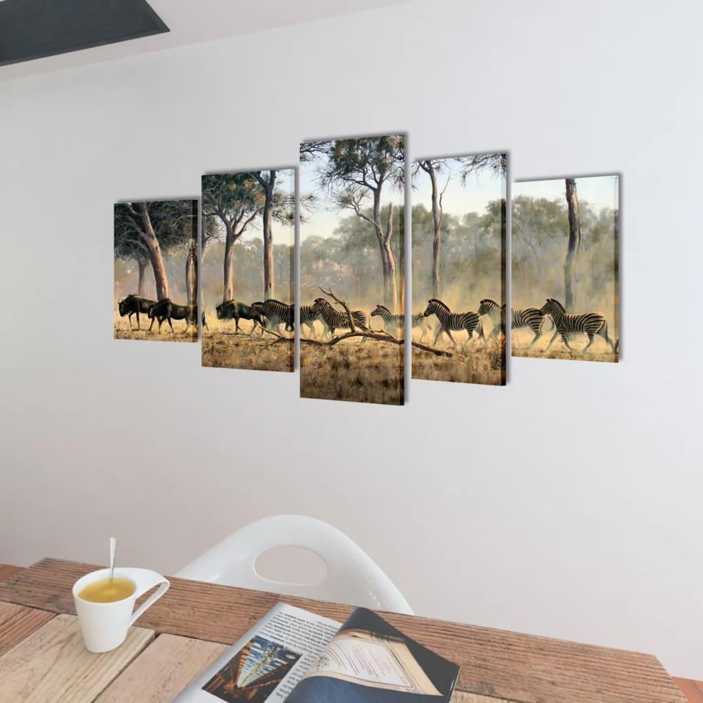 Bilder And Dekoration : Bilder Dekoration Set Zebras 200 x 100 cm  wwwvidaxlat