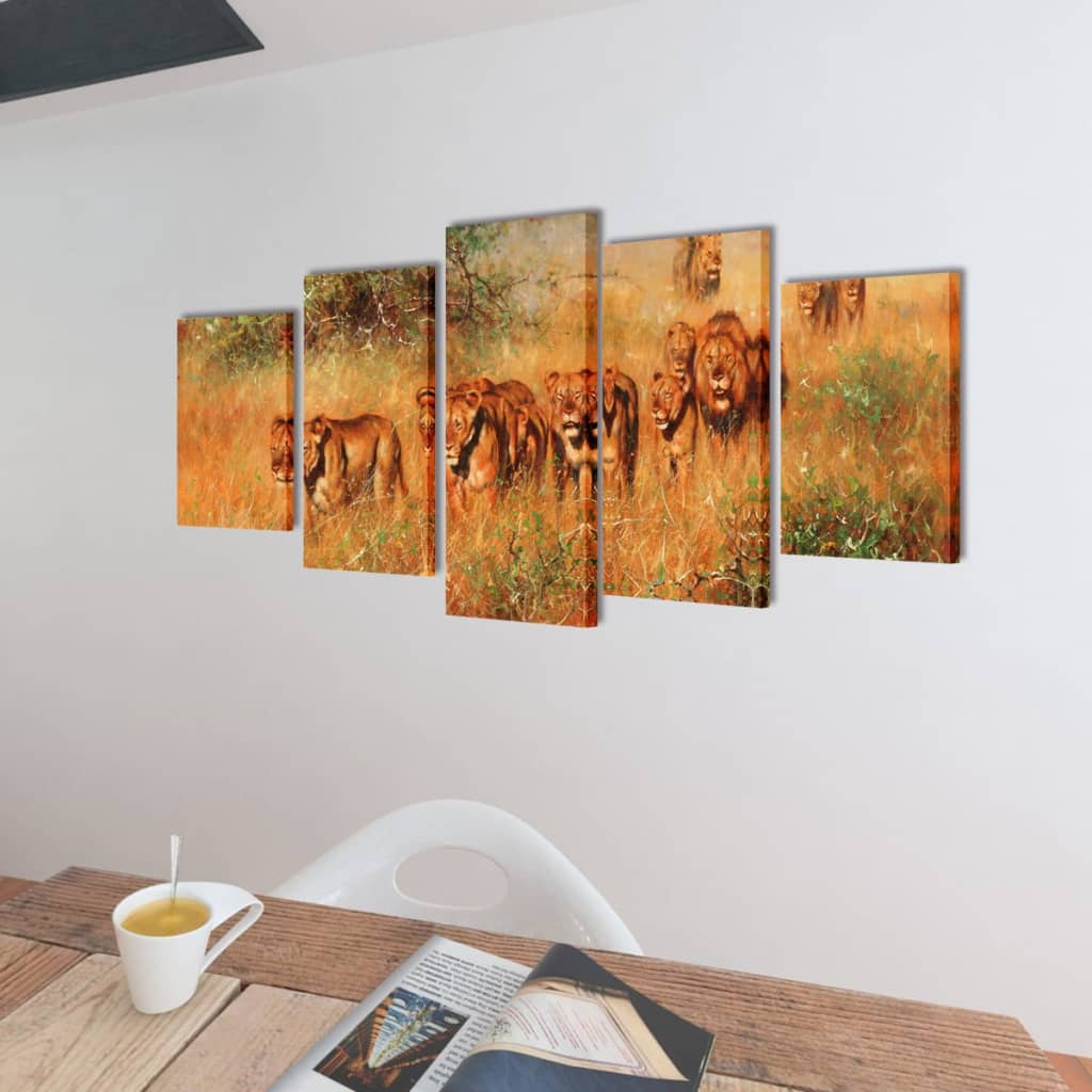 bilder dekoration set l wen 200 x 100 cm g nstig kaufen. Black Bedroom Furniture Sets. Home Design Ideas