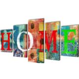 Set platen z živahnim printom Home 100 x 50 cm