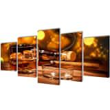 Zidne slike na platnu, viski i cigare, 200 x 100 cm