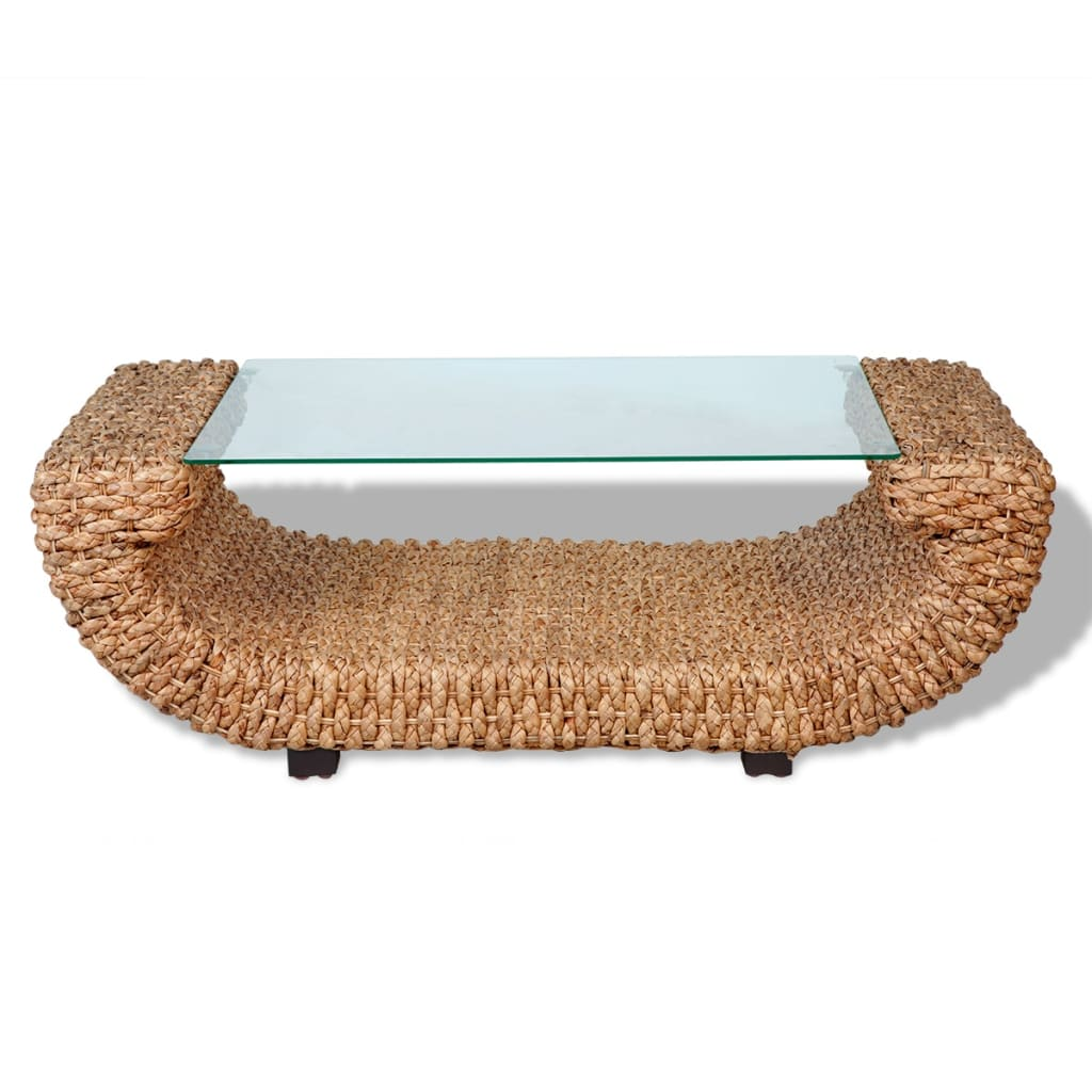 Hand Woven Coffee Table Water Hyacinth With