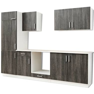 k chenzeile in wenge optik mit schrank f r einbauk hlschrank 7 teilig. Black Bedroom Furniture Sets. Home Design Ideas