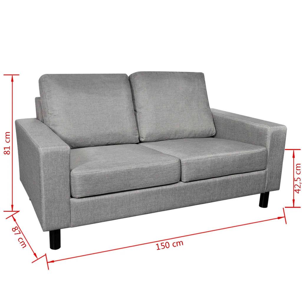 vidaxl 2er stoffsofa 2 sitzer polstersofa loungesofa couch zweisitzer sitzm bel eur 139 99. Black Bedroom Furniture Sets. Home Design Ideas