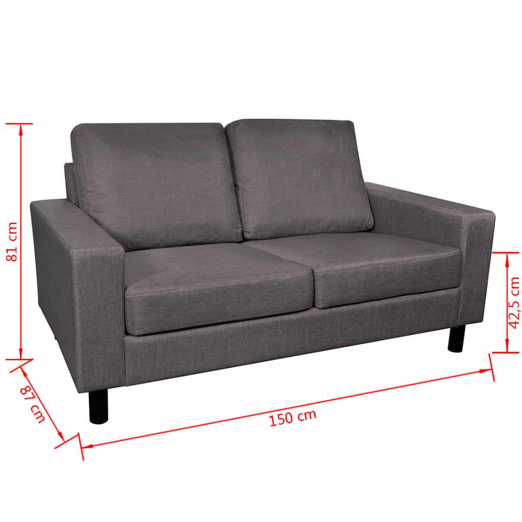 Der sofa 2 sitzer dunkelgrau online shop for Sofa 4 sitzer landhausstil