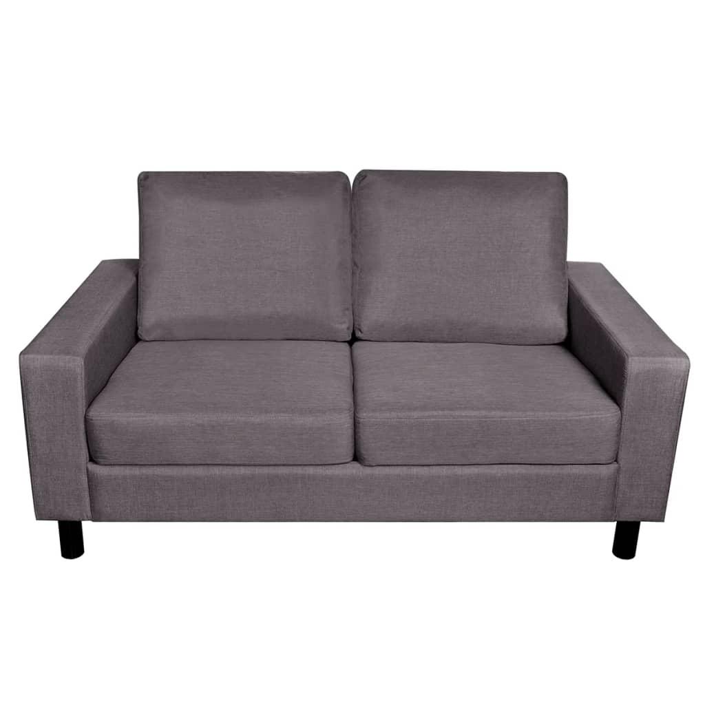 vidaXL-Sofa-de-2-Plazas-Tapizado-en-Tela-Gris-Oscuro-Sillon-Dos-Plazas-Oficina