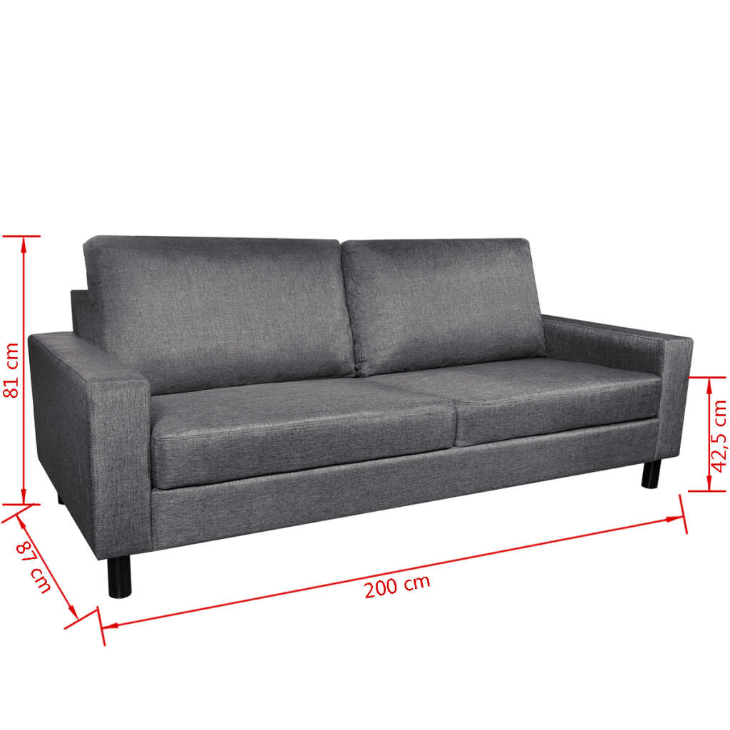 Sof de 3 plazas color gris oscuro for Sofa gris oscuro