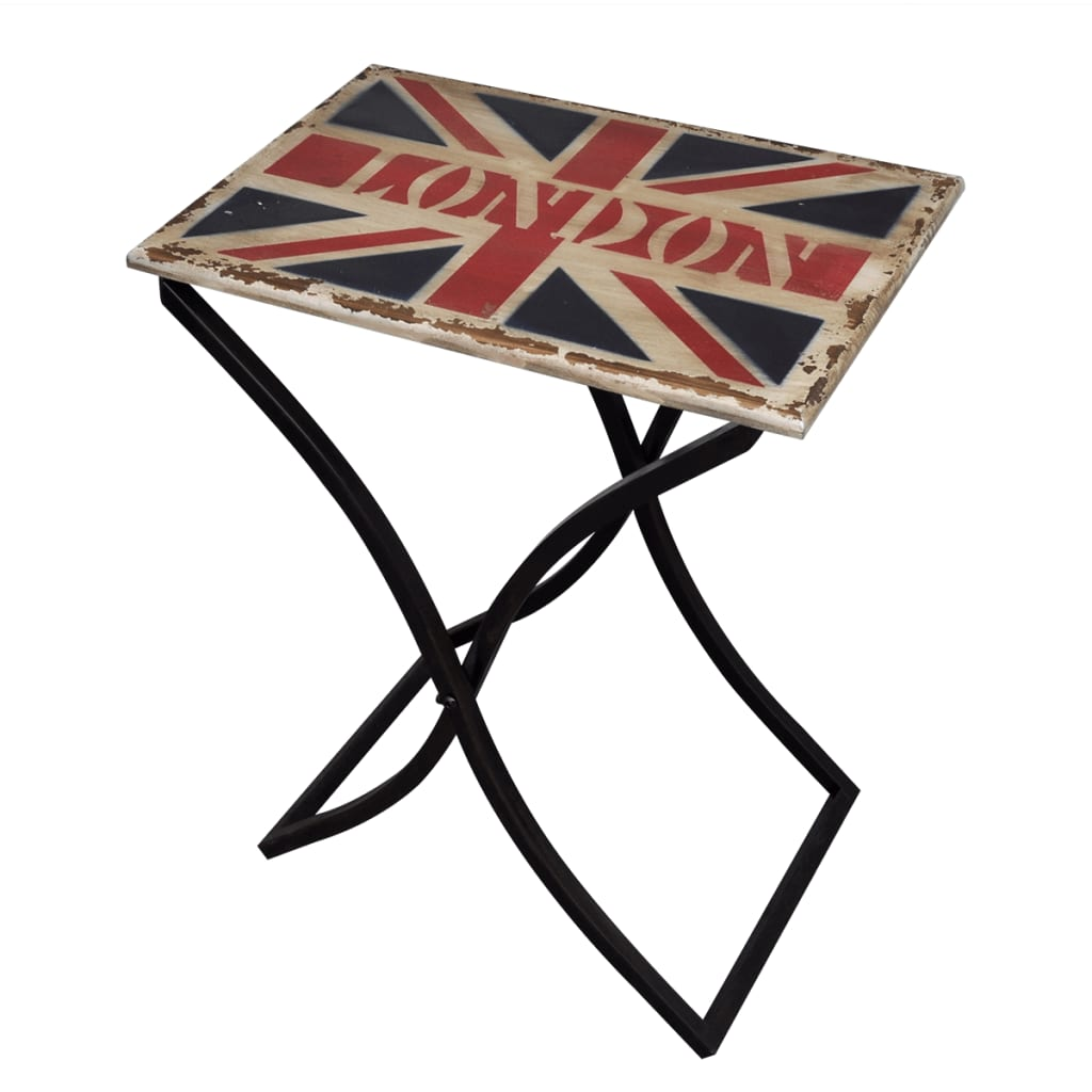 Shabby Chic Coffee Table Side Table Wood With Union Jack Design