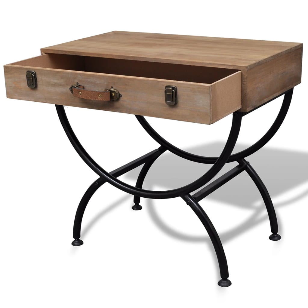 la boutique en ligne table d 39 appoint en bois antique avec tiroir. Black Bedroom Furniture Sets. Home Design Ideas